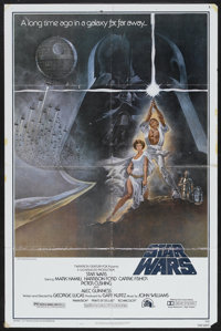 """Star Wars (20th Century Fox, 1977). One Sheet (27"""" X 41"""") Style A and Pressbook (8.5"""" X 11""""). Scienc..."""