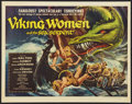 """Movie Posters:Fantasy, Viking Women and the Sea Serpent Lot (American International, 1957). Half Sheet (22"""" X 28"""") and Pressbook (11"""" X 15""""). Fanta... (Total: 2 Items)"""
