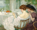 Paintings, PROPERTY FROM A DALLAS PRIVATE COLLECTION. HENRY CARO-DELVAILLE (French, 1876-1928). Women Reading (The Letter), 1910-...