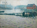 Paintings, JANE PETERSON (American, 1876-1965). Gloucester. Oil on canvas. 18 x 24 inches (45.7 x 61.0 cm). Faintly signed lower le...