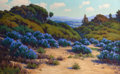 Fine Art - Painting, American:Modern  (1900 1949)  , JOHN M. GAMBLE (American, 1863-1957). Bush Lupine, Near DelMonte, circa 1925. Oil on canvas . 25 x 40 inches (63.5 x 10...