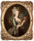 Fine Art - Painting, European:Antique  (Pre 1900), After ELISABETH LOUISE VIGÉE-LEBRUN (French, 1755-1842).Portrait of Marie Antoinette. Oil on canvas. 42-1/4 x 34-3/4in...