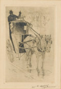 Fine Art - Work on Paper:Drawing, LESTER GEORGE HORNBY (American, 1882-1956) and. JEROME MYERS(American, 1867-1940). Pair of Prints (2), 20th century...(Total: 2 Items)