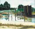 Fine Art - Painting, American:Contemporary   (1950 to present)  , M. FIELDS (American, Late 20th Century). Texas Oil Fields,1977. Watercolor on paper. 24 x 30 inches (61.0 x 76.2 cm...