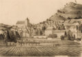 Fine Art - Work on Paper:Drawing, THOMAS ADRIAN FRANSIOLI (American, 1906-2006). St. Cyprien,Dordogne, 1955. Graphite on paper. 10-3/4 x 10-1/2 inches (2...