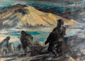Fine Art - Painting, American:Other , JOHN AUGUST GROTH (American, 1902-1988). Battle Scene. Oilon canvas. 29-1/2 x 40 inches (74.9 x 101.6 cm). Signed upper...