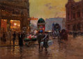 Fine Art - Painting, European:Modern  (1900 1949)  , EDOUARD-LÉON CORTÈS (French, 1882-1969). Paris at the Turn ofthe Century . Oil on canvas . 13 x 18-1/4 inches (33.0 x 4...