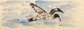 Fine Art - Painting, American:Modern  (1900 1949)  , MILTON AVERY (American, 1893-1965). Speckled Gull Flying,1956. Ink and watercolor on paper . 8-1/2 x 23 inches (21.6 x ...