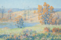 Fine Art - Painting, American:Modern  (1900 1949)  , MAURICE BRAUN (American, 1877-1941). Autumn Landscape. Oil on canvas . 20 x 30 inches (50.8 x 76.2 cm). Signed lower rig...