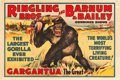 "Movie Posters:Miscellaneous, Circus Poster (Ringling Bros. and Barnum & Bailey, 1938). OneSheet (28"" X 42"") Horizontal Style.. ..."