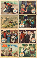 "Movie Posters:Western, The Lucky Texan (Monogram, 1934). Lobby Card Set of 8 (11"" X 14"").. ... (Total: 8 Items)"