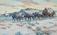 PROPERTY OF A PROMINENT TEXAS COLLECTOR  NICK EGGENHOFER (American, 1897-1985) The Last Mile (Cody, Wyomi