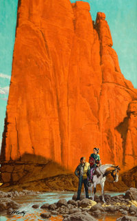 """PROPERTY OF A PROMINENT TEXAS COLLECTOR  FRANK MCCARTHY (American, 1924-2002) Illustration for """"The Enemy"""