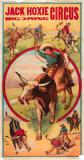 """Movie Posters:Western, Jack Hoxie Circus Poster (1930s). Three Sheet (41"""" X 81"""").. ..."""