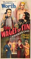 """Movie Posters:Exploitation, The Wages of Sin (Real Life Dramas, 1938). Three Sheet (41"""" X81"""").. ..."""