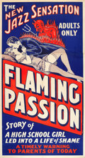 "Movie Posters:Exploitation, Flaming Passion (1930). Three Sheet (41"" X 81"").. ..."