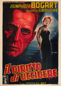 "Movie Posters:Film Noir, In a Lonely Place (Columbia, 1950). Italian 4 - Foglio (55"" X78"").. ..."
