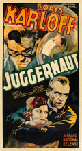 "Movie Posters:Horror, Juggernaut (Grand National, 1936). Three Sheet (41"" X 81"").. ..."