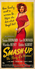 "Movie Posters:Drama, Smash-Up: The Story of a Woman (Universal International, 1947).Three Sheet (41"" X 81"").. ..."