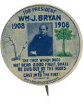 Political:Pinback Buttons (1896-present), William Jennings Bryan: Button with Biblical Tree Allegory. ...