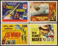 "Movie Posters:Science Fiction, Cat-Women of the Moon Lot (Astor Pictures, 1954). Title Lobby Cards(3) & Lobby Card (11"" X 14""). Science Fiction.. ... (Total: 4Items)"