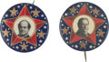 Political:Pinback Buttons (1896-present), William Howard Taft and William Jennings Bryan: Superstar Buttons....