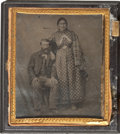 Photography:Tintypes, Settler and Native American Spouse Tintype. ...