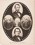 "Political:Posters & Broadsides (pre-1896), Lincoln & Johnson and the ""Defenders of the Union"": A Striking 1864-65 Poster...."