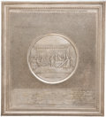 Political:3D & Other Display (pre-1896), Declaration of Independence Decorative Electrotype Plaque Dated 1859. ...