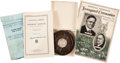 Autographs:U.S. Presidents, Herbert Hoover: Signed Inaugural Address and Post-Presidential Relics.... (Total: 4 Items)