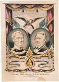 Political:Textile Display (pre-1896), Taylor & Fillmore: Grand National Whig Banner....