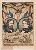 Political:Textile Display (pre-1896), Frémont & Dayton: Grand National Republican Banner....