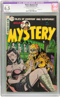 Golden Age (1938-1955):Horror, Mister Mystery #16 (Aragon, 1954) CGC Apparent FN+ 6.5 Slight (P)Off-white to white pages....