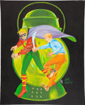 Original Comic Art:Covers, Martin Nodell Green Lantern #1 Cover Re-Creation PaintingOriginal Art (1987)....