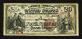 National Bank Notes:Pennsylvania, Philadelphia, PA - $20 1882 Brown Back Fr. 494 The Bank of North America Ch. # 602. ...