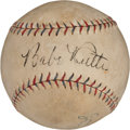 Autographs:Baseballs, Early 1930's Babe Ruth Signed Baseball....