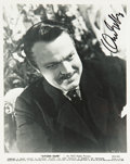 Movie/TV Memorabilia:Autographs and Signed Items, Orson Welles Signed Photo....