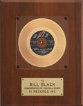 "Music Memorabilia:Awards, Elvis Presley Related - Bill Black's ""White Silver Sands"" In-HouseGold Single Award...."