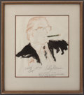 Music Memorabilia:Original Art, Frank Sinatra Related - Jilly Rizzo Portrait by LeRoy Neiman....