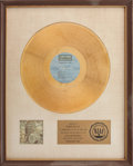 "Music Memorabilia:Awards, Woodstock Two RIAA Gold Album Award Presented to ""Bear"" Hiteof Canned Heat in Recognition of Woodstock Performances...."