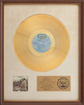 "Music Memorabilia:Awards, Woodstock RIAA Gold Album Award Presented to ""Bear"" Hite ofCanned Heat in Recognition of Woodstock Performances...."