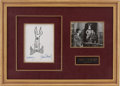 Movie/TV Memorabilia:Autographs and Signed Items, James Stewart Harvey Autograph Display with Signed Spiritof St. Louis Photo.... (Total: 2 )