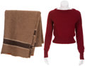 Movie/TV Memorabilia:Costumes, Charlize Theron Sweater and Blanket from Cider HouseRules.... (Total: 2 Items)
