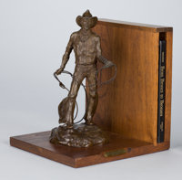 GRANT SPEED (American, b. 1930) The Bronc Rider, 1979 Bronze with patina 12 x 6 x 6 inches (30.5