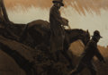 Works on Paper, PROPERTY OF A PROMINENT TEXAS COLLECTOR. MAYNARD DIXON (American, 1875-1946). Homeward Bound, Sandhill Camp, 1892. Gou...