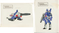"Memorabilia:Miscellaneous, Transformers: the Movie ""Galvatron"" Painted Cel Model Sheet Group (Sunbow Productions, Inc., 1986).... (Total: 2 Items)"