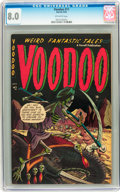 Golden Age (1938-1955):Horror, Voodoo #11 (Farrell, 1953) CGC VF 8.0 Off-white pages....