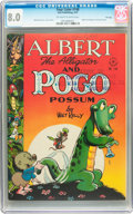 Golden Age (1938-1955):Funny Animal, Four Color #148 Albert and Pogo - File Copy (Dell, 1947) CGC VF 8.0Off-white to white pages....