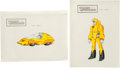 Memorabilia:Miscellaneous, Transformers: the Movie Wheelie Painted Cel Model Sheet Group (Sunbow Productions, 1986).... (Total: 2 Items)