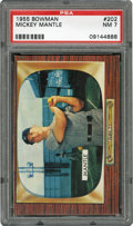 Baseball Cards:Singles (1950-1959), 1955 Bowman Mickey Mantle #202 PSA NM 7....